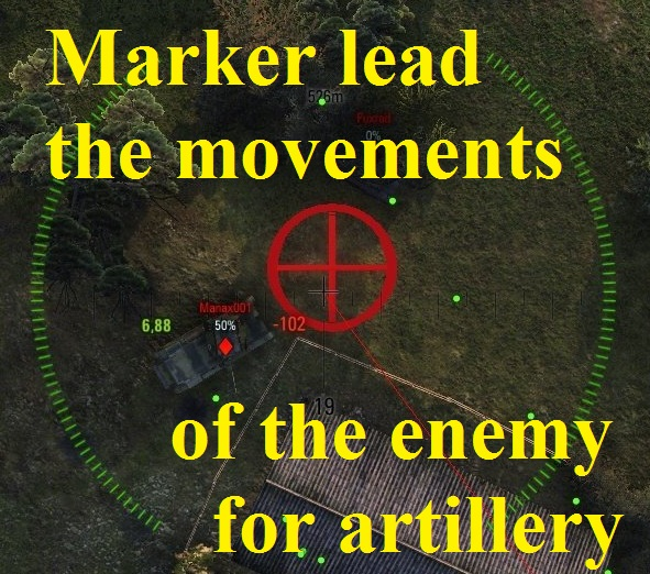 Marker lead movements of the enemy for artillery Mod for WoT 0.9.16