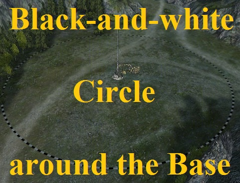 Black-and-white Circle around the Base Mod For World Of Tanks 0.9.16
