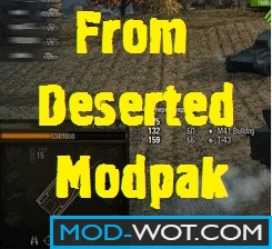 Deserted Modpack For World of tanks 0.9.16