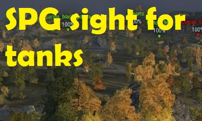 SPG sight for tanks, sniper for arty and free camera in battle WoT 0.9.16