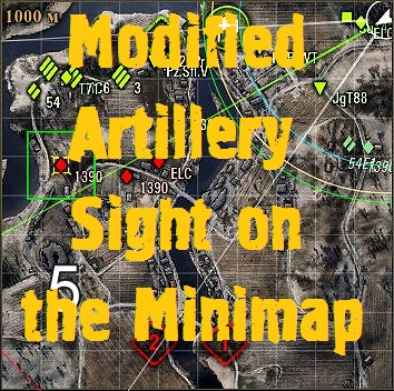Modified artillery sight on the minimap Mod For World Of Tanks 0.9.18