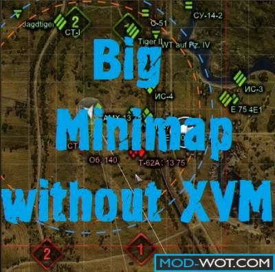 Big mini-map without XVM For World of tanks 0.9.14.1