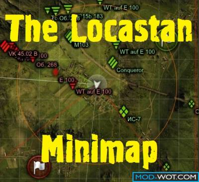 Improved minimap from Locastan without XVM For World of tanks 0.9.22.0.1