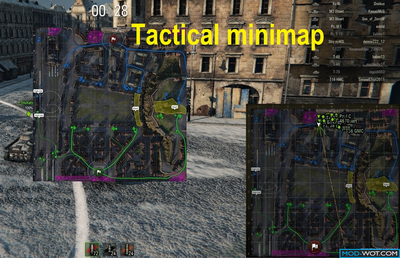 Tactical minimap in loading screen before battle For WOT 1.3.0.0