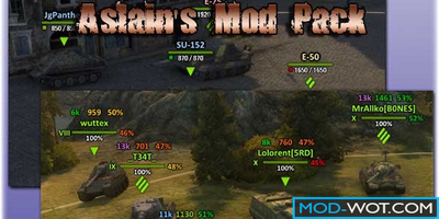 Aslain's ModPack for World of Tanks 1.3.0.1