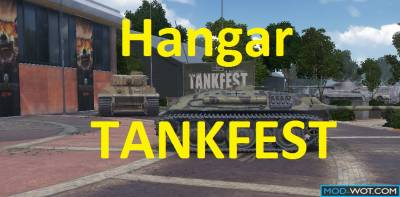 Hangar TANKFEST on square in front of tank Museum WoT 0.9.22.0.1